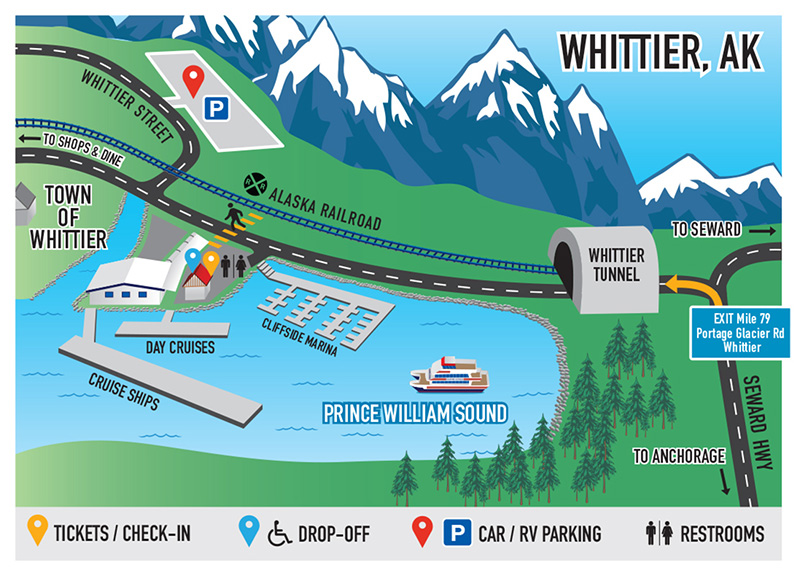 Anchorage Whittier AK USA Cruise Port Of Call